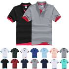 Fashion Womens Mens Slim Fit Stylish Polo Shirt Short Sleeve Casual T-shirts Tee