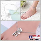 Silver Dreamcatcher Feather Pendant Ankle Chain Anklet Bracelet Foot Jewelry Set