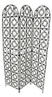 Moroccan Room Divider Screen Wrough Iron Metal Separated Separation Partition