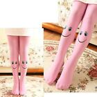 Candy Color Toddler Kids Girls Velvet Smile Face Tights Pantyhose Stocking NEW S