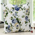 Vintage Flower Cotton Throw Pillow Cover Cushion Case Sofa Bed Home Decor Square