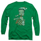 Betty Boop Define Naughty Mens Long Sleeve Shirt Kelly Green $22.83 USD