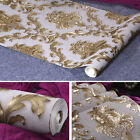 Gold Luxury Metallic Textured Damask Wallpaper Home Wall Decor Paper 10M / Roll