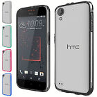 For HTC Desire 530 550 555 Slim Dual Layer Clear Hard PC+Flexible TPU Cover Case