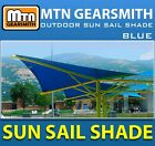 NEW RECTANGLE SQUARE & TRIANGLE OUTDOOR SUN SAIL SHADE CANOPY COVER OPTION- BLUE
