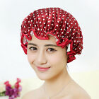 Women Shower Caps Bath Shower Hair Cover Adults Waterproof Bathing Cap JR