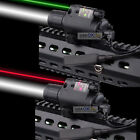 Tactical Combo Q5 LED Flashlight Green/Red Laser Sight Scope 20mm Picatinny Rail