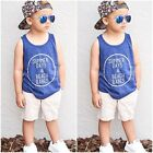 2pcs Cute Toddler Kids Baby Boy T-shirt Tops+Beach Pants Summer Outfits Clothing