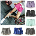 Women Casual Drawstring Shorts High Waist Pants Crimping Loose Summer Trouser US