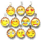 "EMOJI Necklace - YOU CHOOSE FACE - 16"" Silver Plated Chain"
