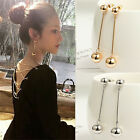 Fashion Bling Ball Earrings Women Long Chain Drop Dangle Earrings Jewelry Gift