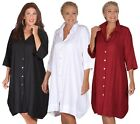 LotusTraders SHORT DRESS LONG SHIRT BUTTON 100% COOL COTTON STYLE MTO W374