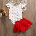 Adorable Newborn Baby Girl Floral Romper Jumpsuit+Tutu Skirt Dress 2pcs Outfits