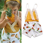Adorable Toddler Kids Baby Girls Pineapple Romper Jumpsuit Pants Clothes Outfits