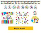 BRIGHT & BOLD Party Tableware Disposable Birthday Supplies {CREATIVE}
