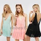 Deep V-neck Backless Night Out Club Cocktail Mini Slip Dress Nightdress Lingerie