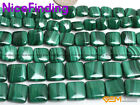 """Natural Green Malachite AAA Square Gemstone Beads For Jewelry Making Strand 15"""""""