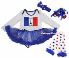 Bastille Day Tower L/S Bodysuit Bling Star Baby Dress Leg Warmer Shoes NB-18M