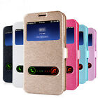 Fashion Luxury Ultra-thin Leather View Strap Stand Flip Case Cover Lot Phones