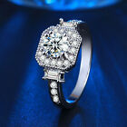 Lady's Gold Plated Clear Zircon Bague Bridal Proposal Ring Jewelry Us 6-8 Charm