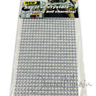 900 x 3mm Self Adhesive Clear Diamante Stick On Crystals Rhinestone Gems