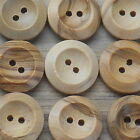 "WOODEN BUTTONS 2-HOLE NATURAL -BULK BUY- 14MM (9/16"") - 100 or 50 PACK***"