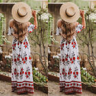 Sexy Women Beach Maxi Dress BOHO Evening Party Cocktail Prom Floral Beachwear pp