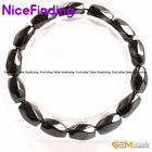 "Magnetic Black Hematite Therapy Healing Bracelets Stretch Jewelry 7"" Shape Pick"