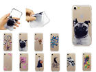 Fashion Painting Ultra-Thin Clear Soft TPU Back Silicone Cover Lot Case Phones
