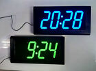 Large 3D Modern Digital LED Wall Clock 24 Hour Display Timer Alarm Home Decar