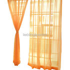 US Sale 2PCS Sheer Voile Window Curtains Panel Drapes Home Dekor for all room