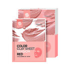 [G9SKIN] Color Clay Sheet Tension Red 1/2/10pcs Lot / Firm Care