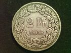 SWITZERLAND Silver 2 Franc Coins 1906 - 1964 Choice of coins in wallet