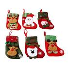 Christmas Stocking Sock Santa Snowman Snowflake Hanging Gift Bag Xmas Decor S