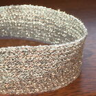 "SILVER FLAT LUREX BRAID 10-13 MM WIDE (approx 1/2"") - GLITZY SPARKLY BRAID"