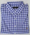 Ralph Lauren Blue Plaid Classic Fit Dress Shirt Long Sleeve Multi Color Pony NWT