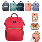 LAND Mummy Bag Large Capacity Baby Diaper Maternity Bag Changing Travel Backpack