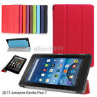 For Amazon Fire 7 2017 Slim PU Leather Folding Case Smart Stand Cover All-New