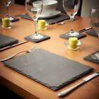 NATURAL SLATE PLACEMATS & COASTERS Share Table Serving Setting Plate/Tray/Board