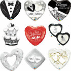 Qualatex Wedding Foil Party Balloons For Helium {Just Married, Hearts, Doves}