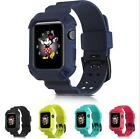 Tough Armor Full Protective Case Frame Silicone Watch Band Strap For Apple Watch