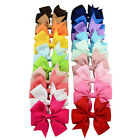 3inch Bow Girls Grosgrain Ribbon Newest Hair Bow Clip Slide Grip Hairpin Bowknot