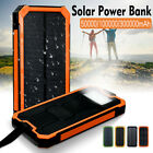 Waterproof 300000mAh Portable Solar Panel Battery Power Bank Charger Dual USB