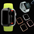 Tempered Glass Film + Slim Metal Bumper Hard Case for Apple Watch iWatch 38/42mm
