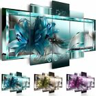 Внешний вид - 5 Panel Canvas Print Modern Abstract Flower Picture Giclee Wall Art Home Decor