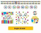 AGE 50 / 50th Birthday BRIGHT & BOLD Party Range Tableware Balloons Decorations