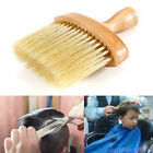 New listing Neck Face Duster soft nylon Brush comb Hairdressing Tool wood Handle