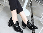 2017 Spring Autumn New Pattern Fashion Deep Rivet Tip Leisure High Heel Shoes