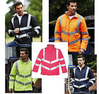 Smart Hi-vis High Visibility Kensington Quilted fleece lined jacket Coat Sizes