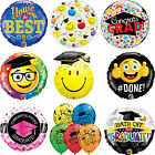 Congratulation Graduate, Well Done, Good Luck Latex & Foil Qualatex Balloons